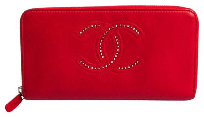 Item - Red Color Long Women's Leather (Bi-fold) Wallet