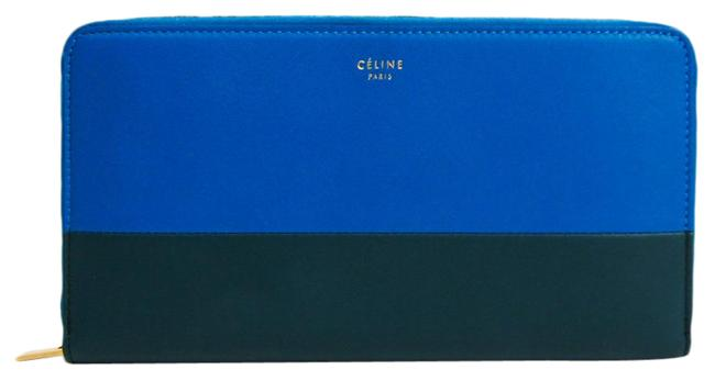 Item - Blue / Dark Green Long Large Zipped Multifunction 105013 Women's Leather (Bi-fold) Wallet