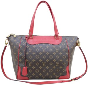 Louis Vuitton Lv Estrela Nm Monogram Satchel in Brown and red