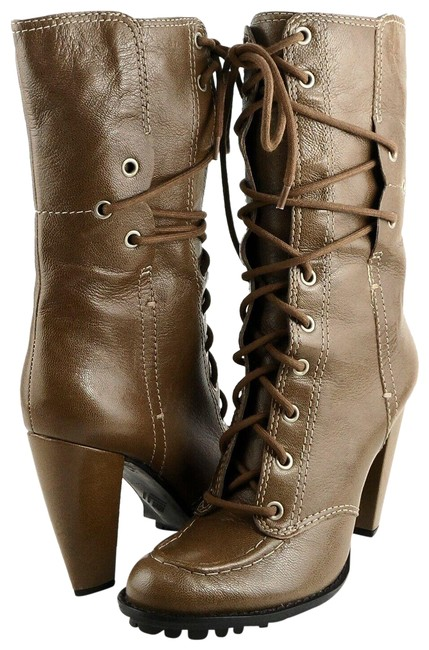 Item - Taupe Everly Black Leather Mid-calf Boots/Booties Size US 6.5 Regular (M, B)