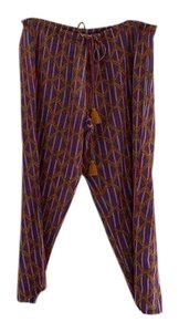 Figue Relaxed Pants pink, blue, gold print