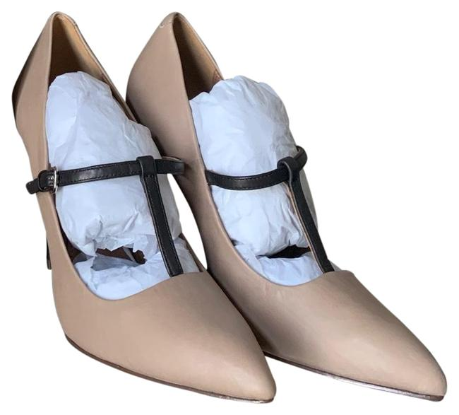 Item - Cream and Black Heels Pumps Size US 6 Regular (M, B)