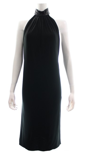 Item - Black Sleeveless Snake Stamped Collar Medium Mid-length Night Out Dress Size 8 (M)