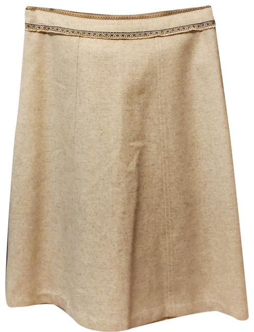 Item - Beige Wool A Line Skirt Size 4 (S, 27)