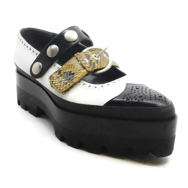 Item - Black and White Double Strap Platforms Size EU 40 (Approx. US 10) Regular (M, B)