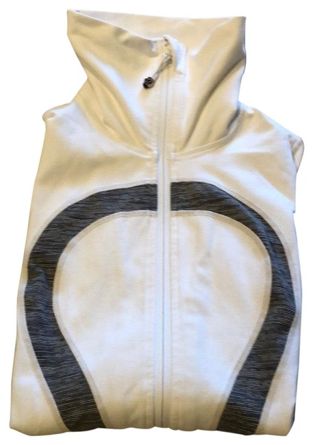 Item - White Full Zip Activewear Outerwear Size 4 (S)