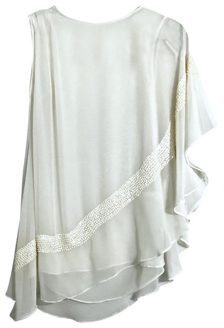 Item - Off White To Cream Boutique Item Blouse Size 8 (M)
