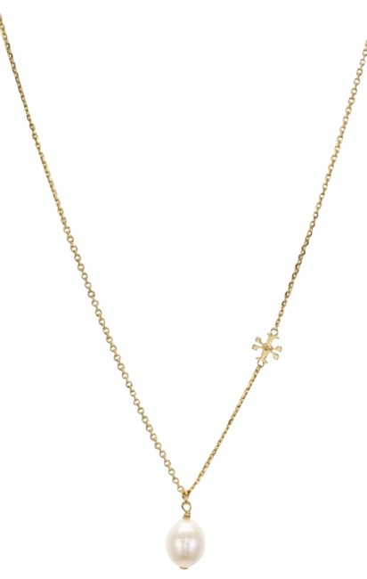 Item - Gold Reva Logo Pearl Necklace
