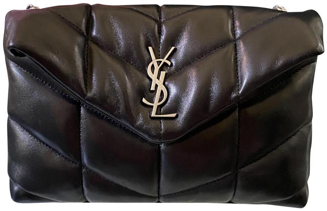 Item - Monogram Loulou Mini Ysl Puffer In Quilted Black Lambskin Leather Shoulder Bag