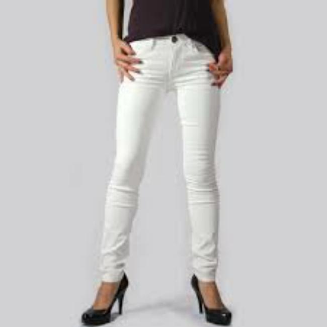 Item - White Coated The Ankle Skinny Jeans Size 25 (2, XS)