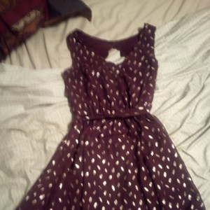 by&by short dress Maroon with gold leaves on Tradesy