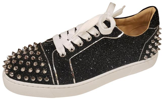 Item - Black Vieira 2 Spikes Stud Glitter Crosta Sneakers Size EU 37.5 (Approx. US 7.5) Regular (M, B)