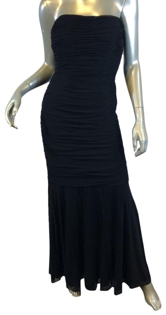 Item - Black Collection Evening/Cocktail Strapless Long Cocktail Dress Size 8 (M)