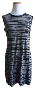 Nicole Miller Artelier short dress grey and black on Tradesy