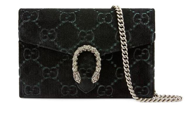 Item - Dionysus Chain Wallet Purse Black Gg Velvet Cross Body Bag