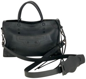 Balenciaga City Blackout Perforated Shoulder Bag