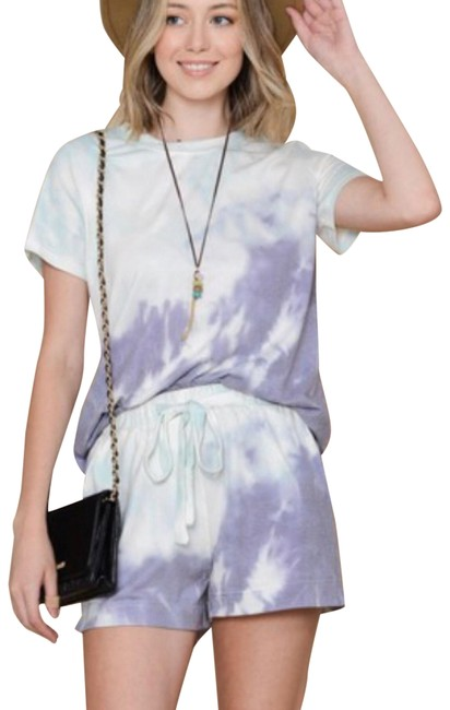 Item - Mint/Lilac Two Piece Tie Dyed Top Shorts Suit Size 6 (S)
