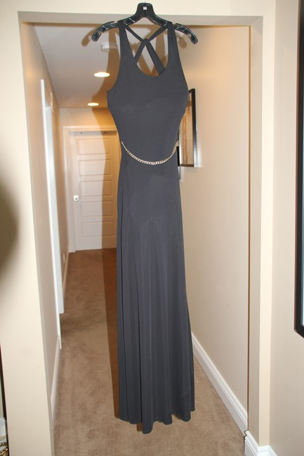 Item - Black Javarra Long Night Out Dress Size 6 (S)