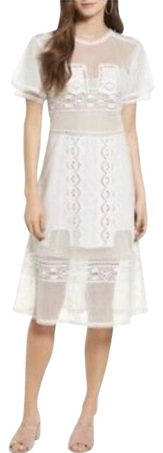 Item - White Nel Mid-length Short Casual Dress Size 4 (S)