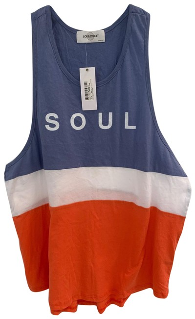 Item - Red White Blue Color Block Activewear Top Size 6 (S)