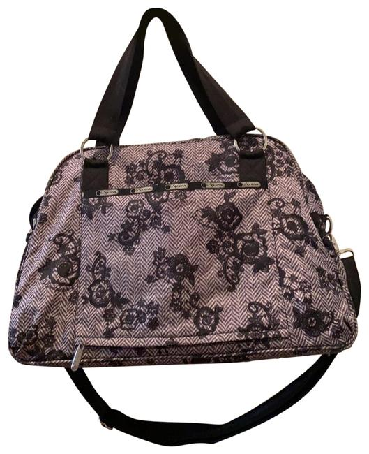 Item - Carry-on Large Black and White Nylon Weekend/Travel Bag