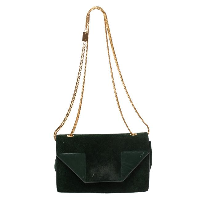 Saint Laurent Betty Green Suede & Leather Shoulder Bag Saint Laurent Betty Green Suede & Leather Shoulder Bag Image 1