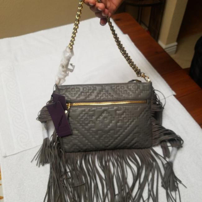 Brian Atwood Anina Nepal Shoulder Grey Leather Cross Body Bag Brian Atwood Anina Nepal Shoulder Grey Leather Cross Body Bag Image 3