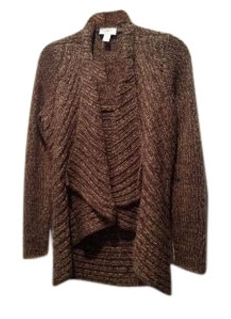 Preload https://item5.tradesy.com/images/ann-taylor-loft-bronze-knitted-chunky-cardigan-size-4-s-27484-0-1.jpg?width=400&height=650