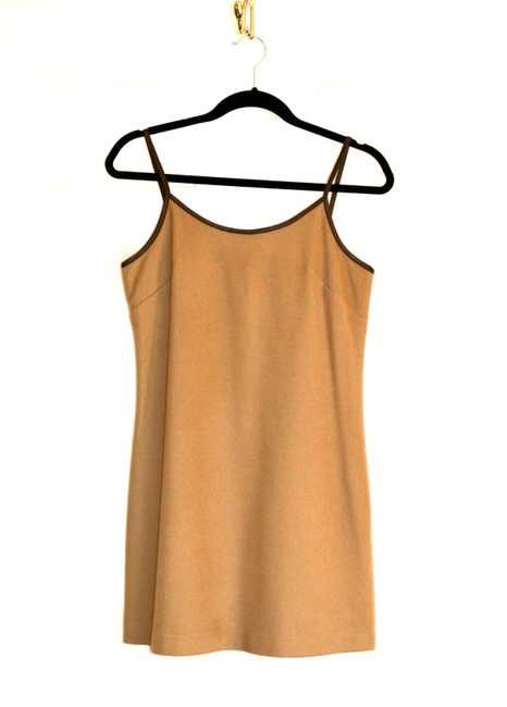 Item - Camel Wool Mini Short Casual Dress Size 2 (XS)