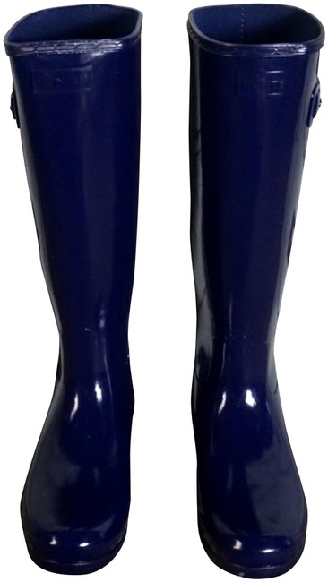 Item - Melody Refined Gloss Tall Calf Rain Boots/Booties Size US 7 Wide (C, D)