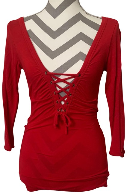 Item - Lace Down Red Sweater