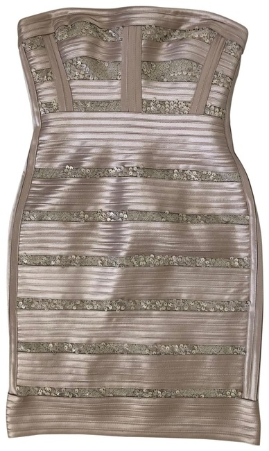 Item - Gold Champaign Bgbg Sequin Bodycon Short Night Out Dress Size 2 (XS)