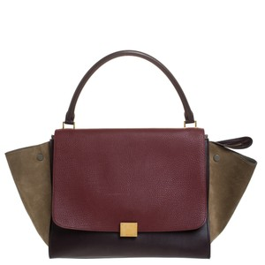 Celine Leather Tote in Tricolor