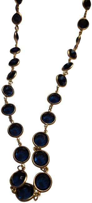 Item - Gold Blue Stone Necklace