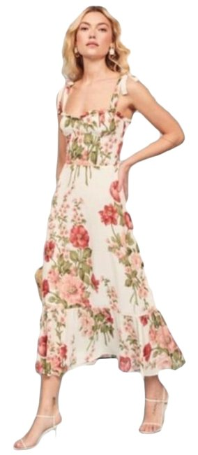 Item - White Pink Nikita In Etienne Mid-length Casual Maxi Dress Size 8 (M)