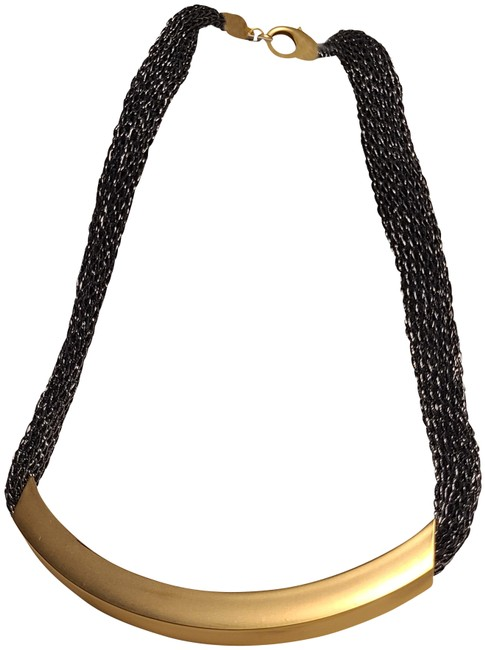 Item - Gold and Gunmetal Mesh Necklace