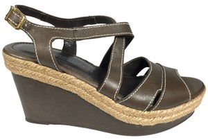 Other Gastone Lucioli Brown Sandal Strappy Espadrille Tobacco Brown Wedges