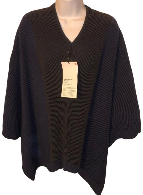 Item - Navy/Black It All Lines Up Poncho/Cape Size OS (one size)