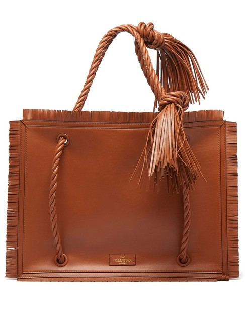 Item - Mf The Rope Large Tan Brown Leather Tote