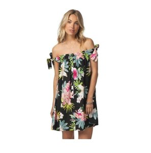 Rip Curl short dress Black Sweet Aloha Floral Mini Off The Shoulder Sundress on Tradesy