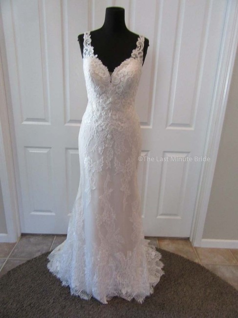 Item - Sand/Ivory/Nude Lace 44173 Feminine Wedding Dress Size 10 (M)