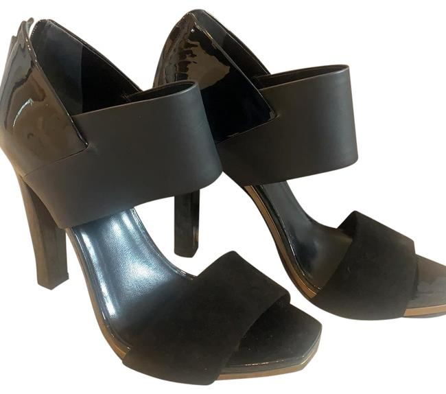 Item - Black W/Gold Trim Kid Scamosciato/Babylon/Nero Sandals Size EU 38 (Approx. US 8) Regular (M, B)
