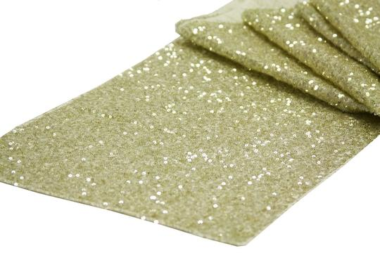 Your Choice 10 Sequin Table Runners Glitter Sparkle Glam Bling Color Tablecloth