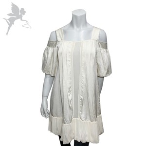 Development by Erica Davies short dress Beige Ruffle Off The Shoulder Loose on Tradesy