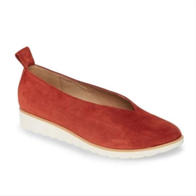 Item - Red Humor Brick Suede Flats Size US 8.5 Regular (M, B)