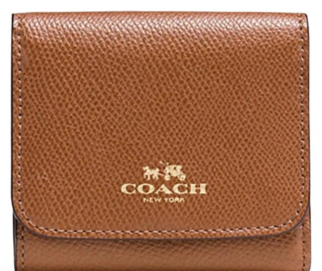 Coach Imitation Gold/Saddle Multi Small In Rainbow Colorblock Leather F53895) Wallet Coach Imitation Gold/Saddle Multi Small In Rainbow Colorblock Leather F53895) Wallet Image 1