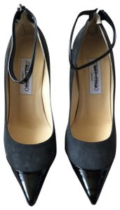 Jimmy Choo black patent and grey suede Pumps