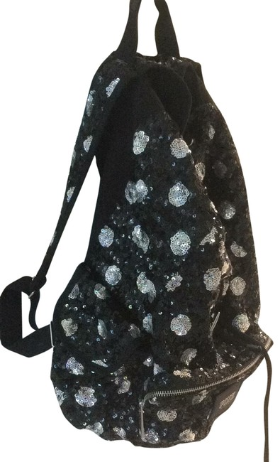 Item - Signature Black and Silver Sequin Backpack