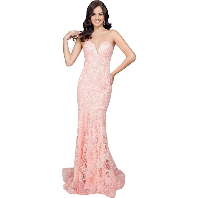 Item - Pink Lace Prom Evening Long Formal Dress Size 0 (XS)