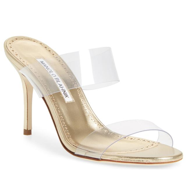 Item - Clearxgold Scolto Gold X Clear Sandals Size EU 37 (Approx. US 7) Regular (M, B)